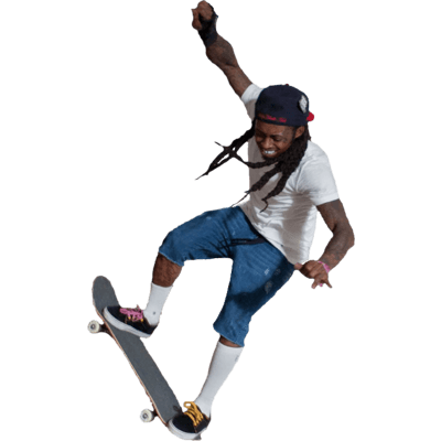 400x400 Skateboard Side Transparent Png