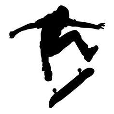 236x236 Skater Silhouette Vector