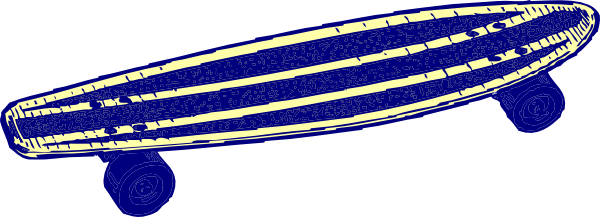 600x217 Blue, Skateboard Clip Art