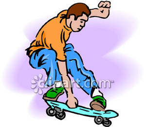 300x261 Doing A Skateboarding Trick