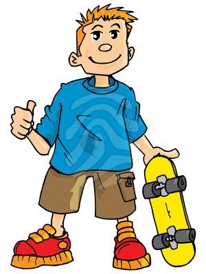 300x400 Skateboard Clipart