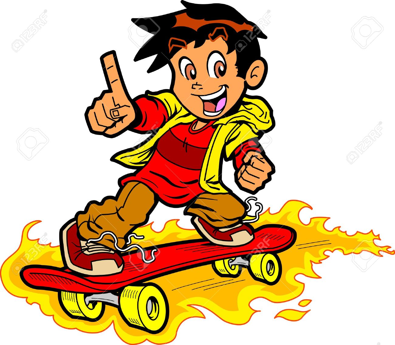 1300x1135 Skateboard Clipart Cool Boy