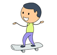 195x188 Skateboard Clipart Riding