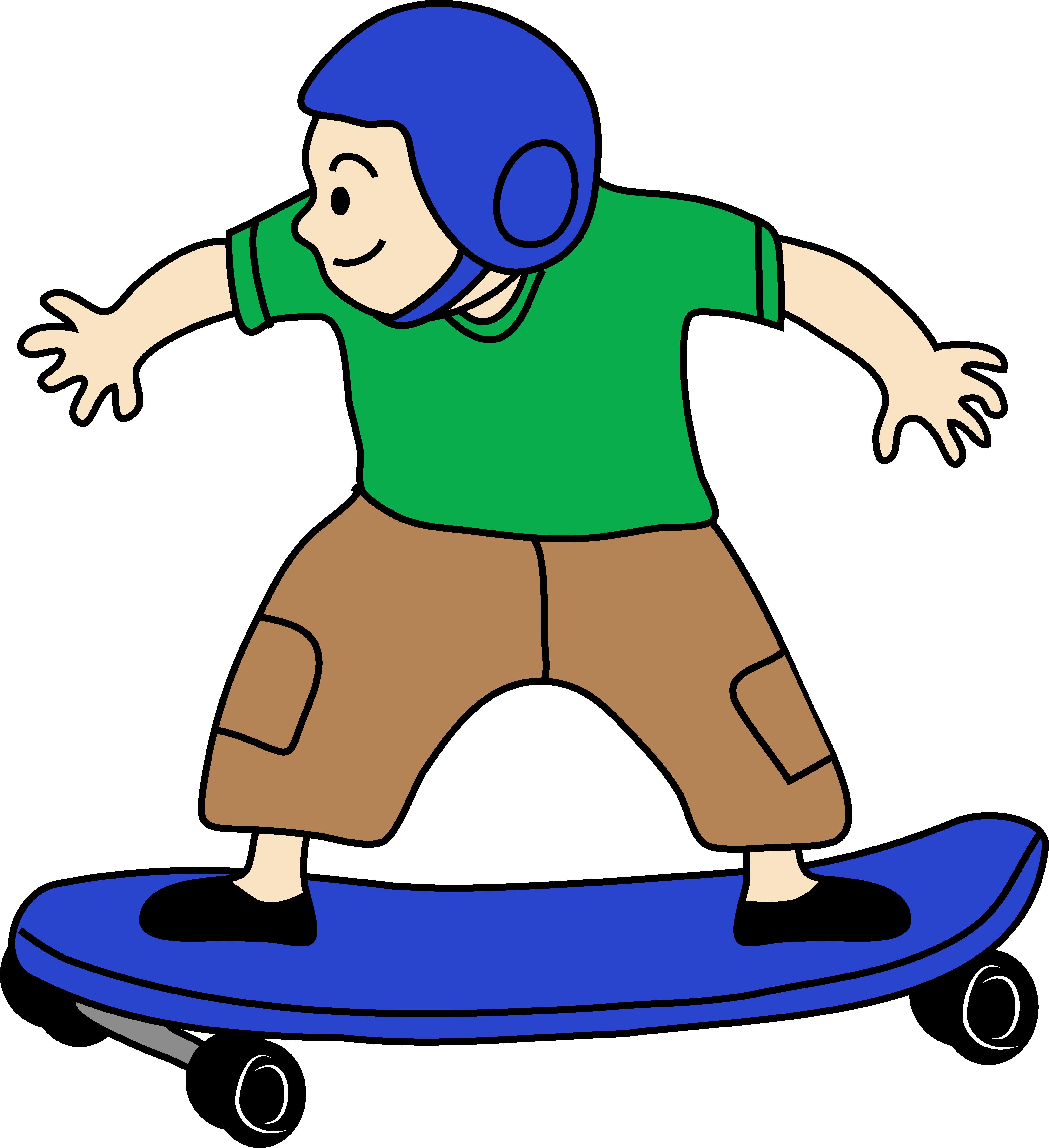 4354x4763 Skateboarding Boy Clip Art