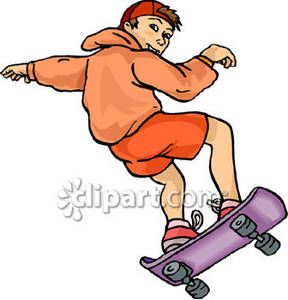 288x300 Young Boy Skateboarding