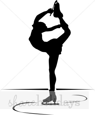321x388 Figure Skating Clipart Ice Skater Spinning In Silhouette Winter