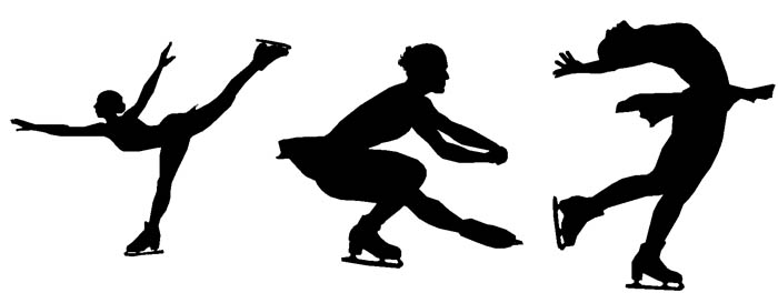 700x273 Figure Skating Silhouette Clip Art