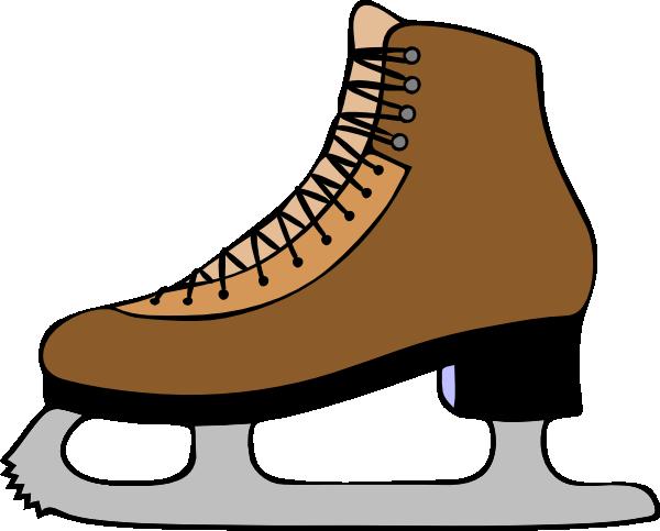 600x483 Brown Skate Med Clip Art