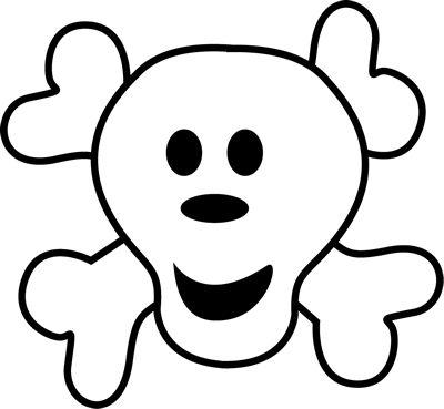 400x369 Cute Skeleton Clip Art Logo Clip Art Image Pirate Logo