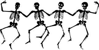 322x164 Halloween Skeleton Clipart