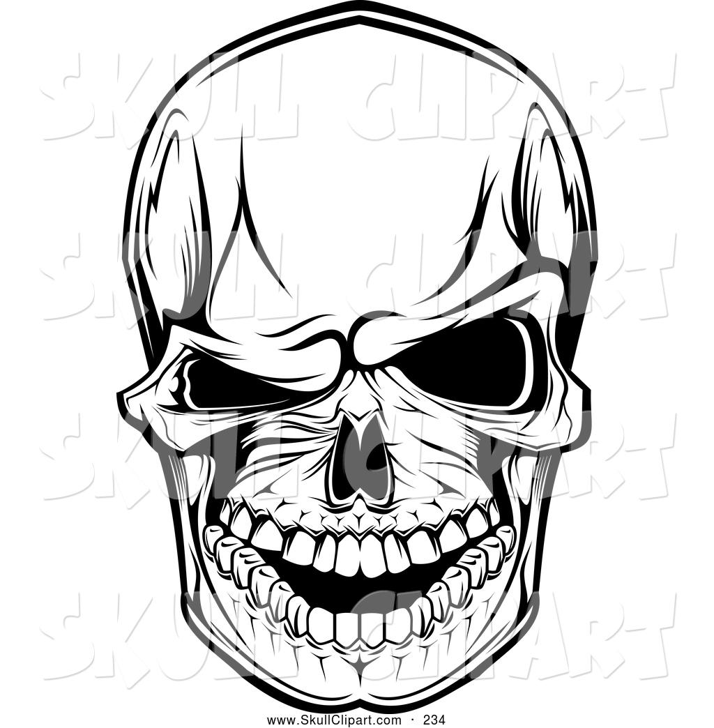 1024x1044 Vector Clip Art Of A Scary Skull Winking
