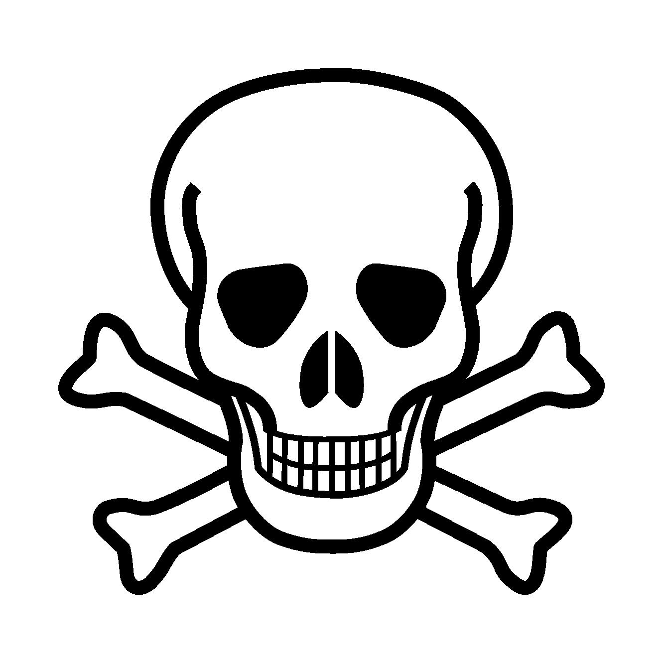 1331x1331 Black And White Skull And Crossbones Clip Art