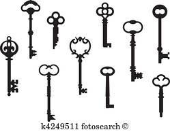 249x194 Skeleton Key Clip Art Eps Images. 901 Skeleton Key Clipart Vector