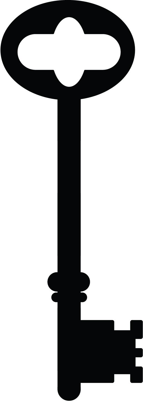 534x1500 Key Clipart Skeleton Key