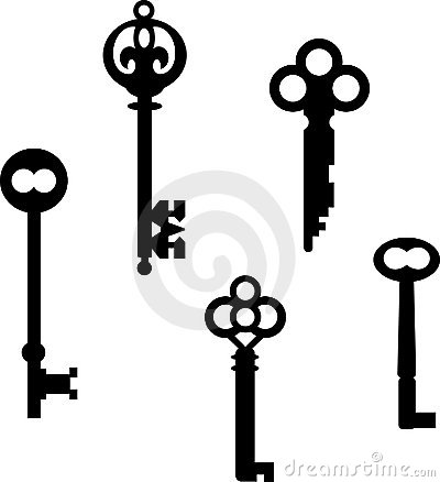 400x438 Drawn Key Skeleton Key