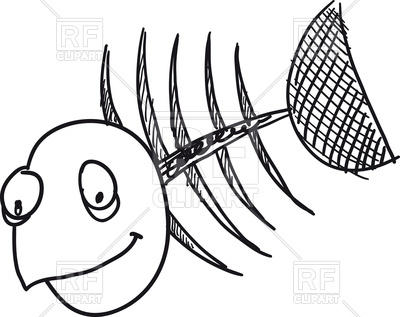 400x317 Cartoon Skeleton Of Fish Royalty Free Vector Clip Art Image