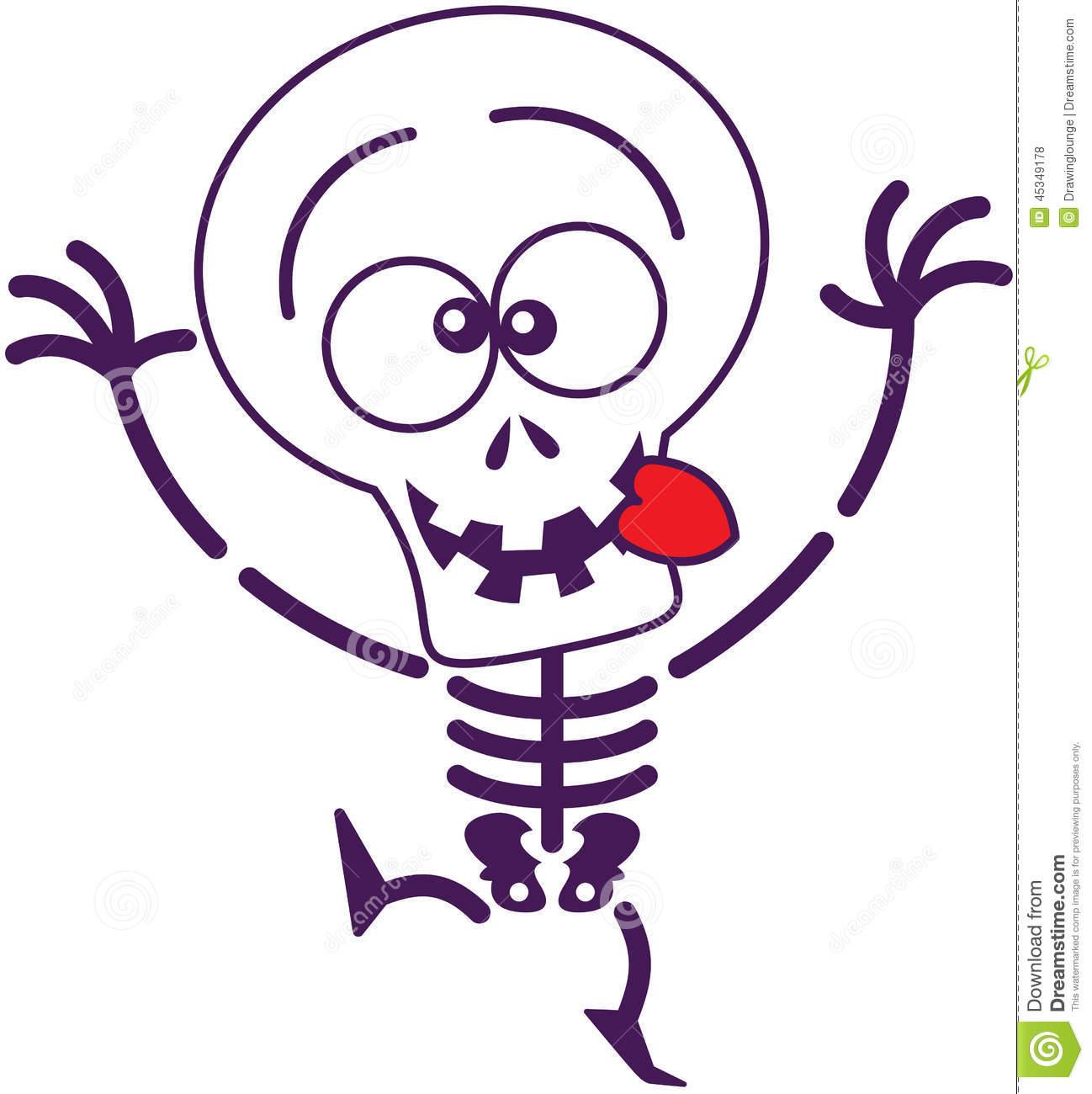 1298x1300 Cute Cartoon Skeleton Clipart