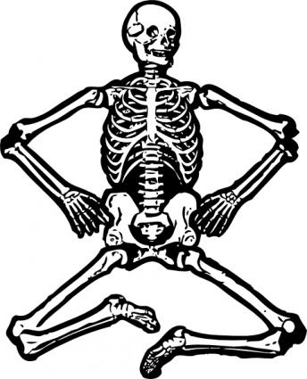 344x425 Dead Outline Skull Human Cartoon Bones Dancing Skeletons Skeleton