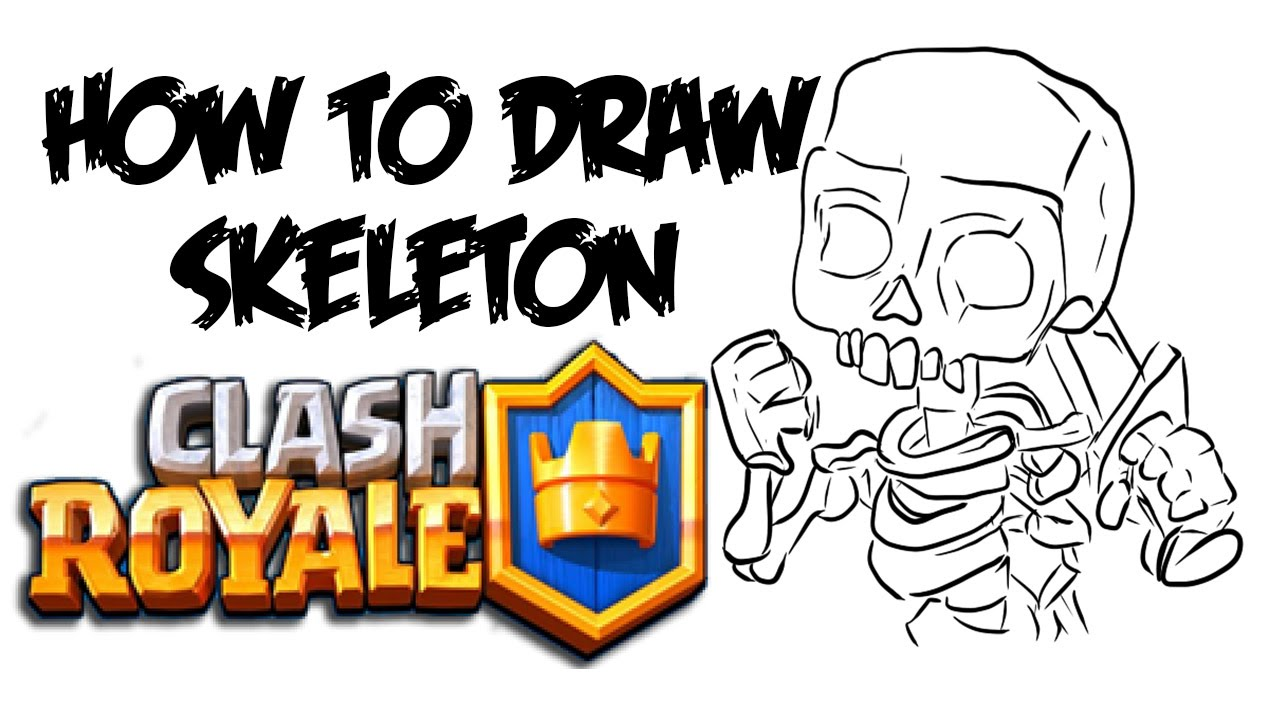 1280x720 How To Draw Skeleton (Clash Royale)