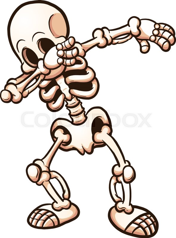 591x800 Shackled Skeleton. Vector Clip Art Illustration With Simple