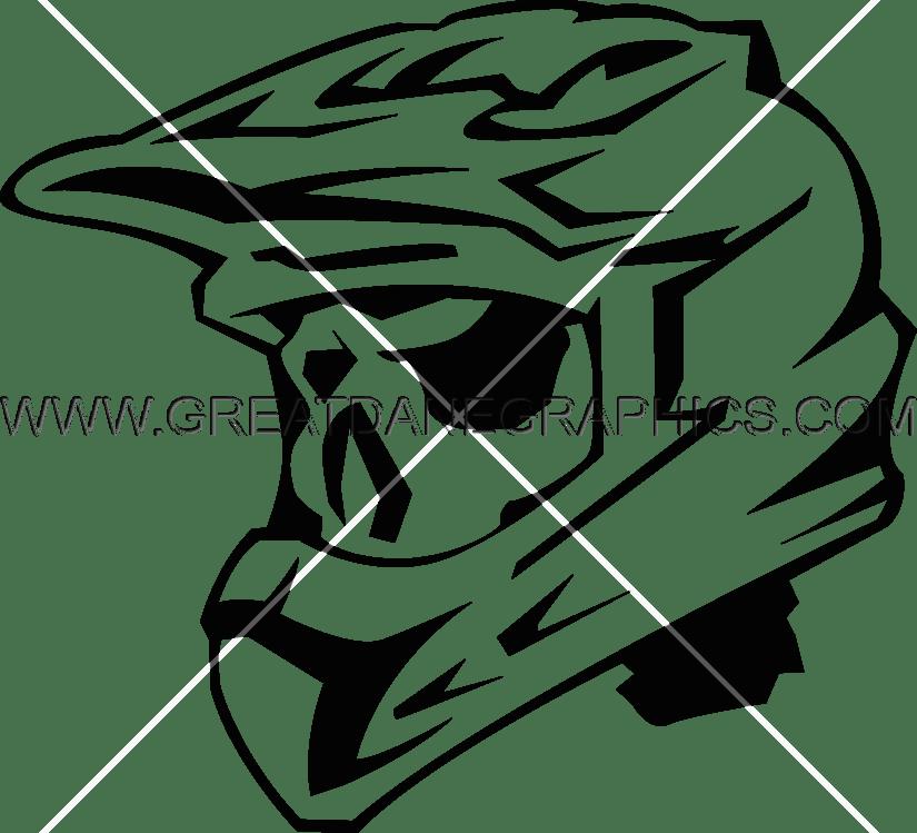 825x749 Skeleton Motocross Helmet Production Ready Artwork For T Shirt