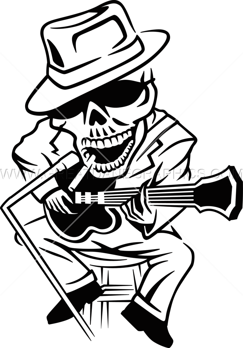 825x1181 Blues Skeleton Production Ready Artwork For T Shirt Printing