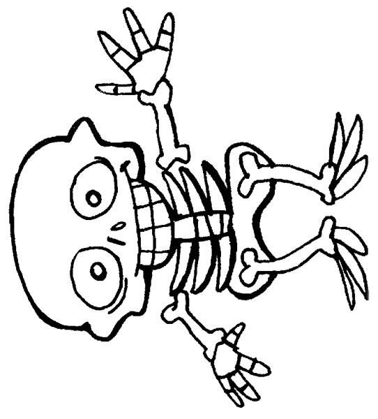 542x600 Other Skeleton Coloring Pages For Kids Printable Skeleton
