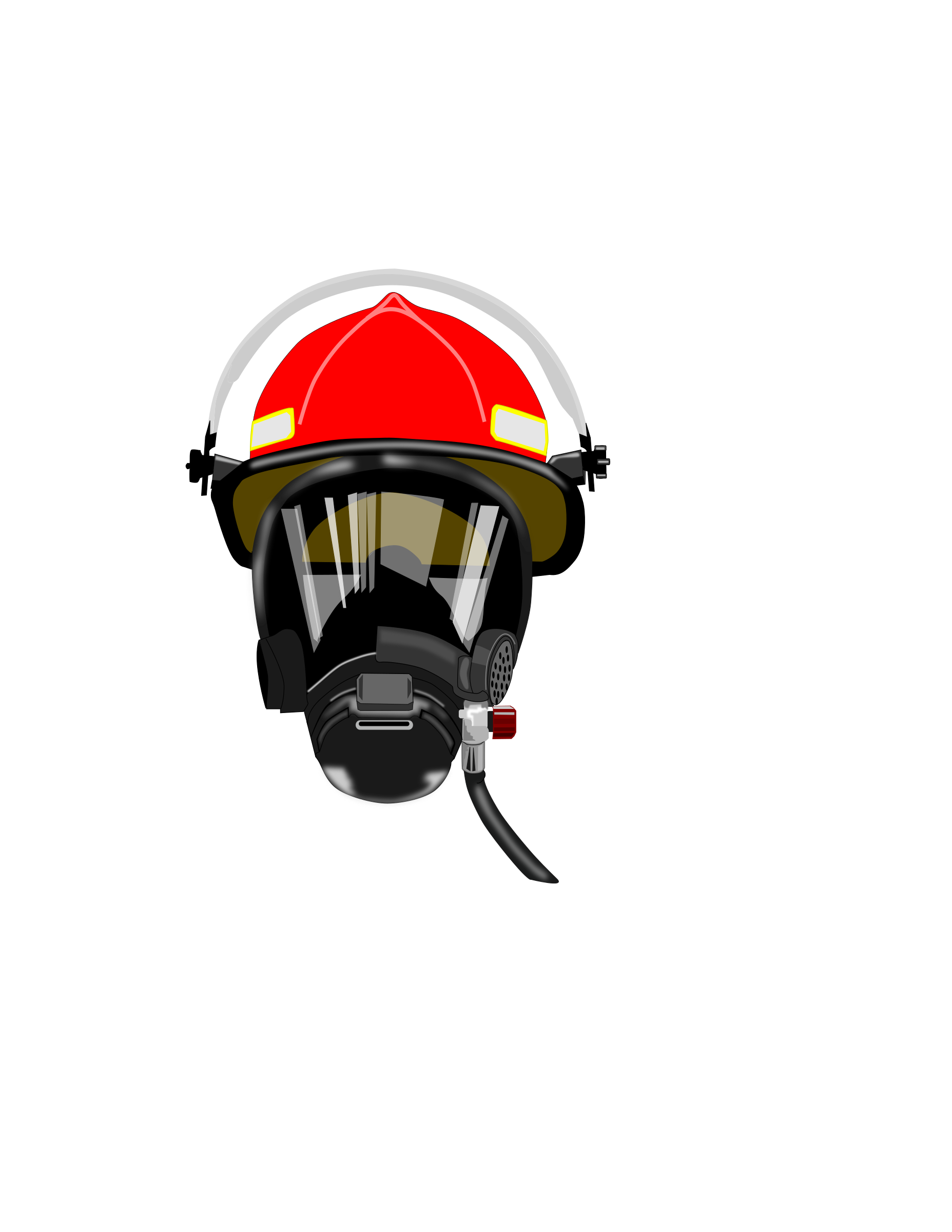 1855x2400 Firefighter Clipart Face Mask