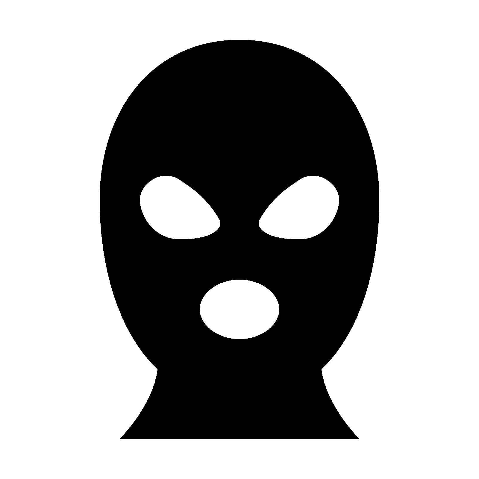 1600x1600 Masks Clipart Burglar