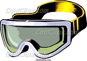 300x211 Skiing Goggles Vector Clip Art