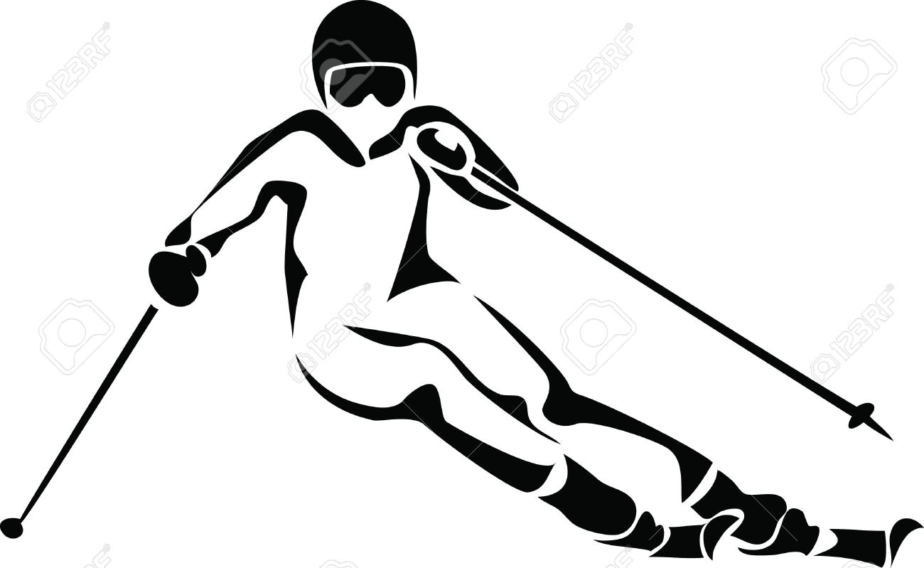 1300x799 Alpine Skiing Logo Royalty Free Cliparts, Vectors, And Stock