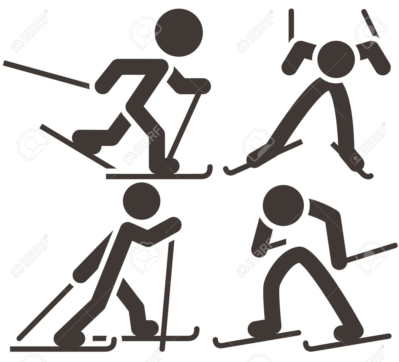 1300x1182 Cross Country Skiing Clipart Map Ecuador South America Pictorial Graph