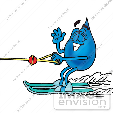 450x450 Free Water Skiing Clipart