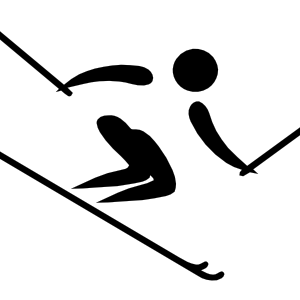 300x300 Olympic Sports Alpine Skiing Pictogram Clip Art