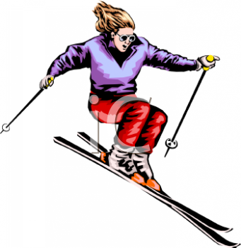 341x350 Royalty Free Skiing Clip Art, Sport Clipart