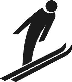 239x272 Ski clipart ski jump