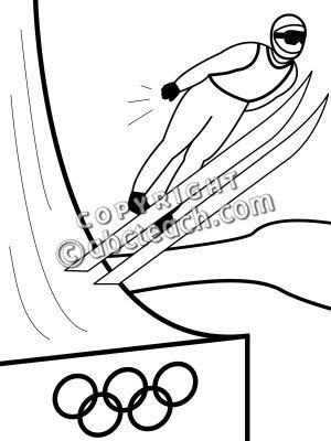 300x400 Ski jump clipart
