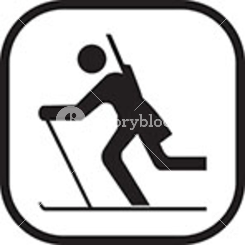 1000x1000 Skiing Clip Art Royalty Free Stock Image