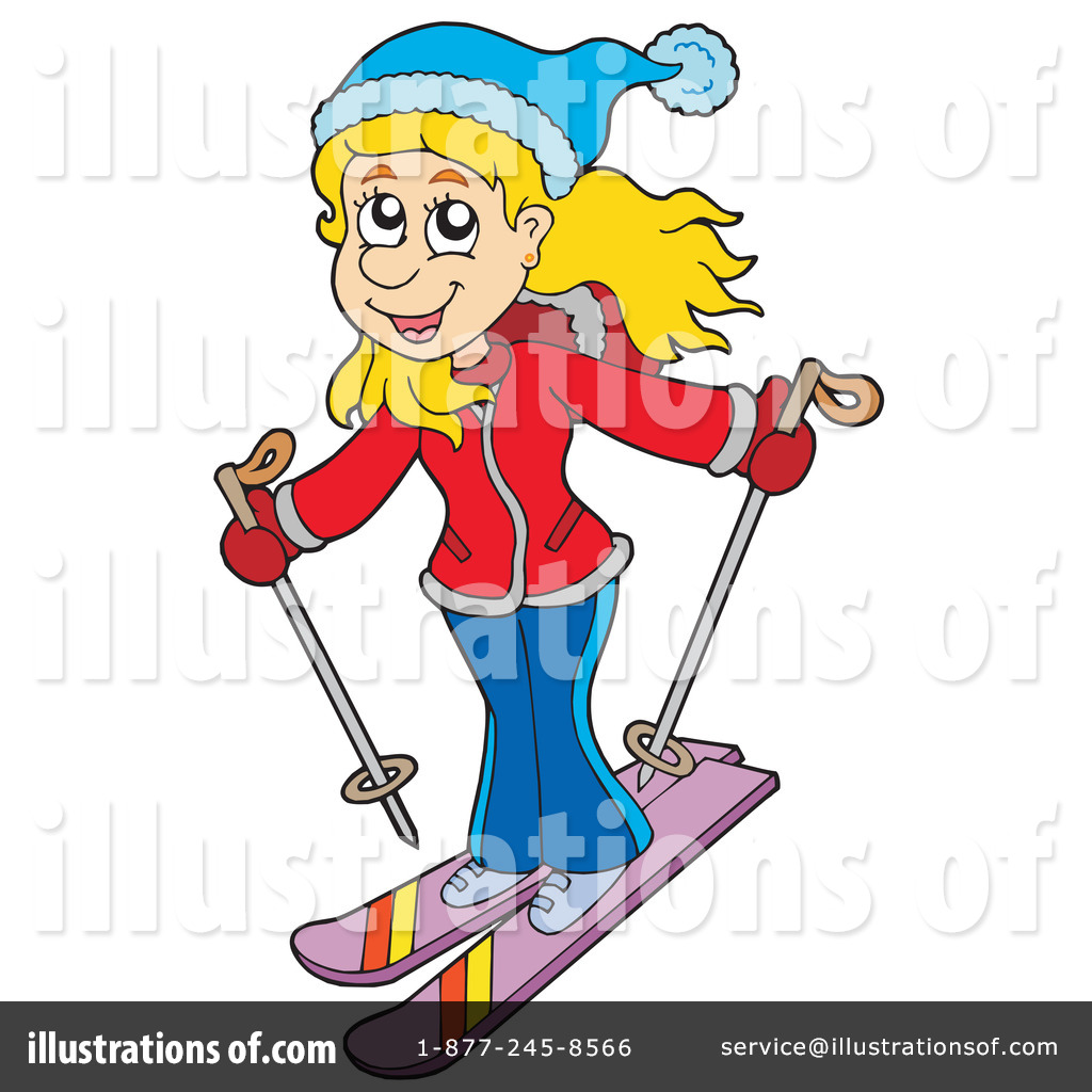 1024x1024 Skiing Clipart