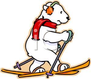 300x262 Art Image A Skiing Polar Bear