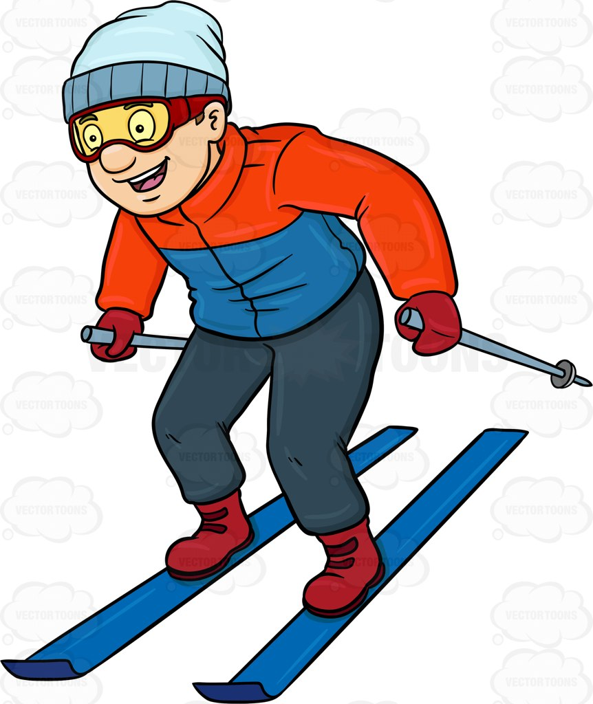 862x1024 Skiing Clipart Guy
