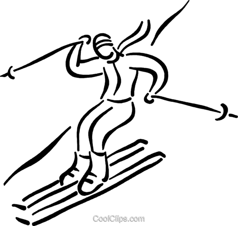 480x457 Skiing Clipart Someone