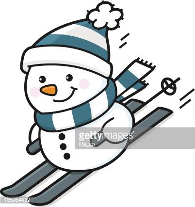 402x427 Snowman Clipart Skiing