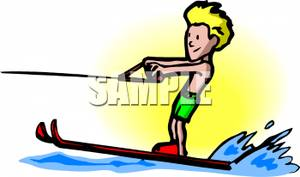 300x177 Boy Water Skiing Clipart Picture