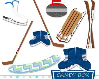 340x270 Winter Clothing Clipart Set Digital Scrapbook Clip Art Pack