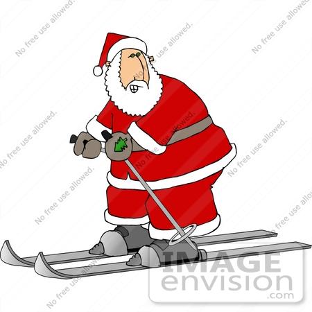 450x450 Santa Skiing Clipart