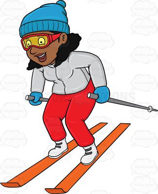 326x400 Skiing Clipart