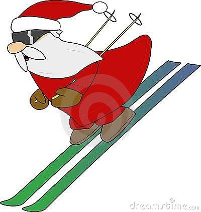 400x422 Skiing Clip Art