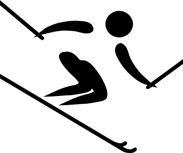 600x499 Olympic Sports Alpine Skiing Pictogram Clip Art Free Vector