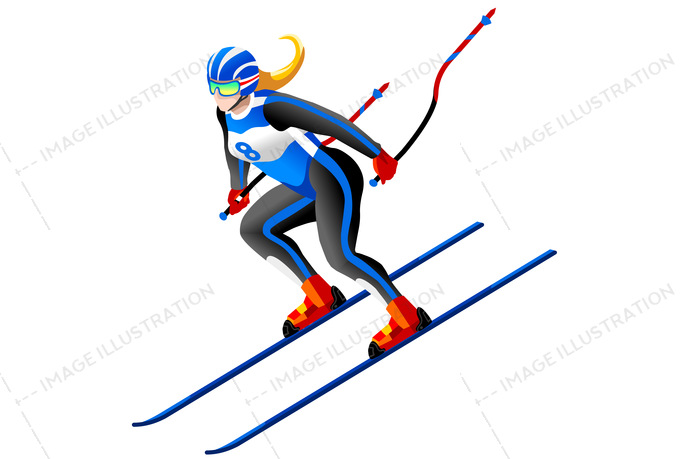 690x459 Isolated Alpine Skiing Vector